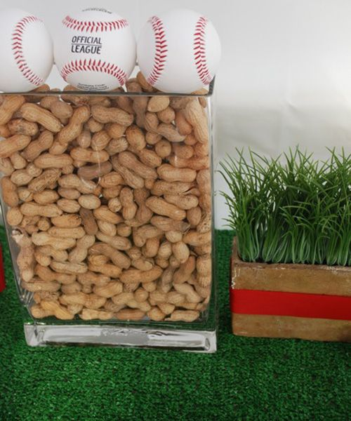 <3 these...CHECK! Used the block with grass as my inspiration to hold the baseball for everyone to autograph