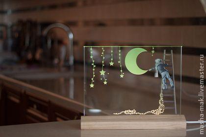 Девочка и луна - сказочный подарок на день рождения, подарок на любой случай :) это работа-рекордсменка в нашем магазине! Ее заказывают чаще других )))