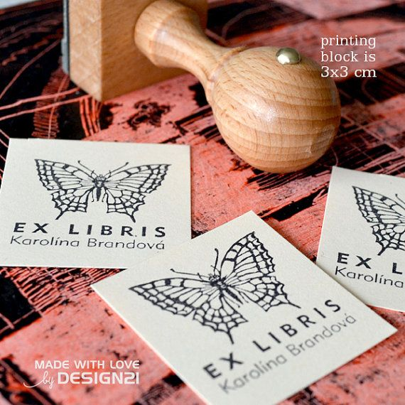Short-horned baronia : personalised rubber stamp 3x3 cm by lida21