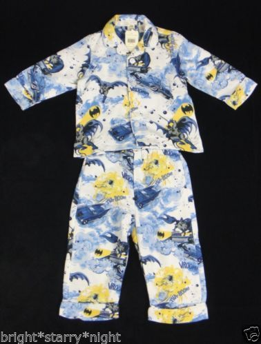 Pottery Barn Kids Batman Pajamas Size 2T New Boy Super Hero Gift Toddler 2 New   eBay