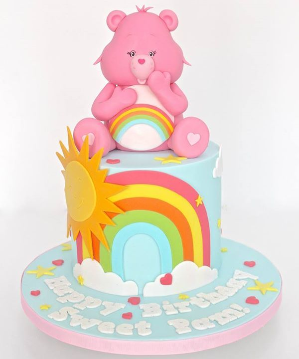 Cheer Bear, Care Bears Cake - by Celebrate with Cake