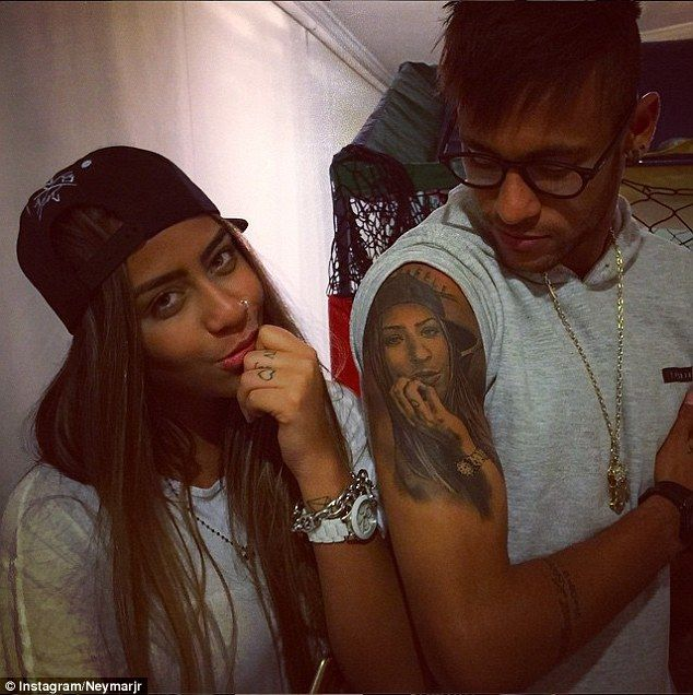 Neymar's sister gets Brazil star's eyes inked on her arm