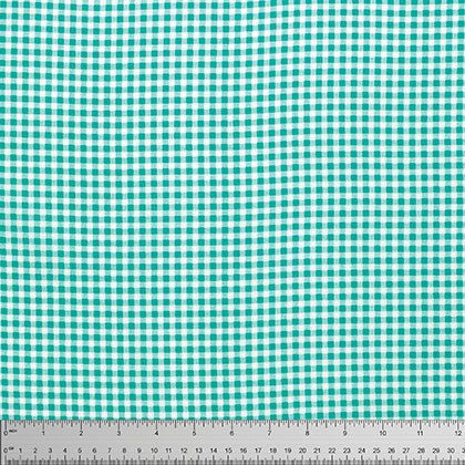 Aqua Petite Gingham by Verna Mosquera for Free Spirit Fabric Aqua Fabric Aqua Gingham Fabric Modern Fabric Aqua and White Fabric Check Plaid by Owlanddrum on Etsy