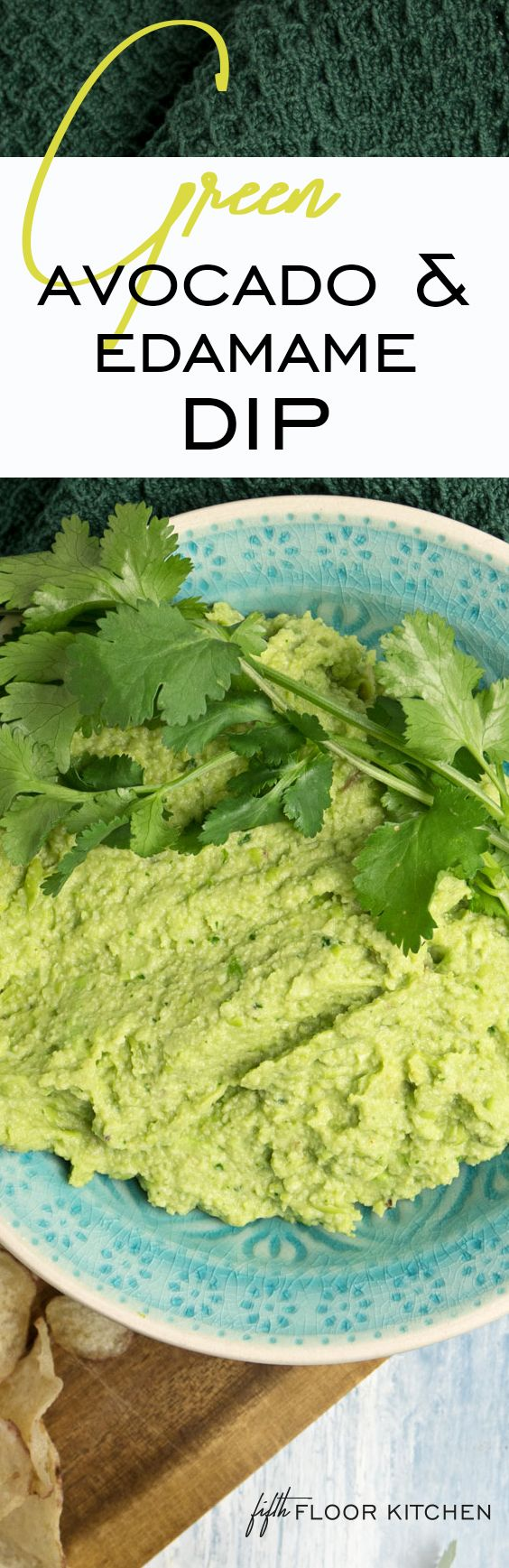 This recipe is calling all guacamole and hummus lovers! Here's the green warrior dip with avocado and edamame