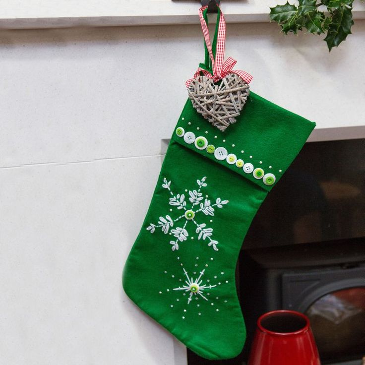 Christmas Stocking Craft Ideas Part - 45: Snowflake Stocking | Craft Ideas U0026 Inspirational Projects | Hobbycraft  #christmasstocking #makeyourownstocking #christmascrafts