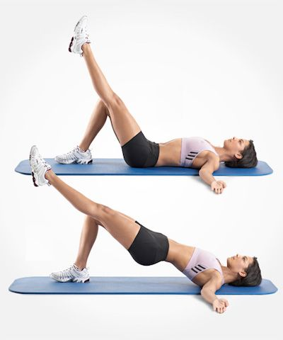 single leg hip raise