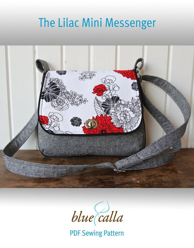 The Lilac Mini Messenger by Blue Calla Patterns