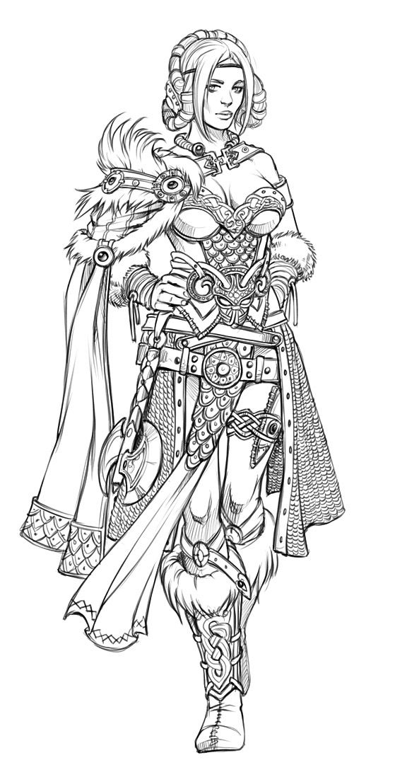 Costume designs by eva widermann on behance adult for Outfit coloring pages