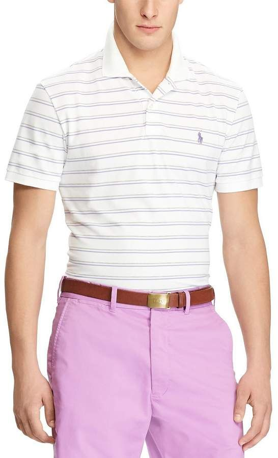 f8284e328 Polo Ralph Lauren Polo Golf Custom Slim-Fit Stripe Performance Short-Sleeve  Polo Shirt