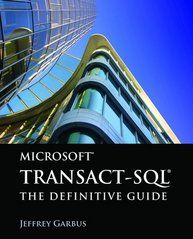 """Use code """"GARBUS"""" to receive 35% off your order of this book today!  According to industry studies, 70-80% of database performance problems are caused by poorly written transact-SQL code. Microsoft Transact-SQL: The Definitive Guide is a comprehensive guide to the T-SQL language written for the MS SQL Server 2008 developer having performance problems with SQL. The text includes case studies and examples demonstrating how to write or rewrite T-SQL source code."""