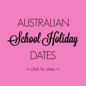 Australian School Holiday Dates