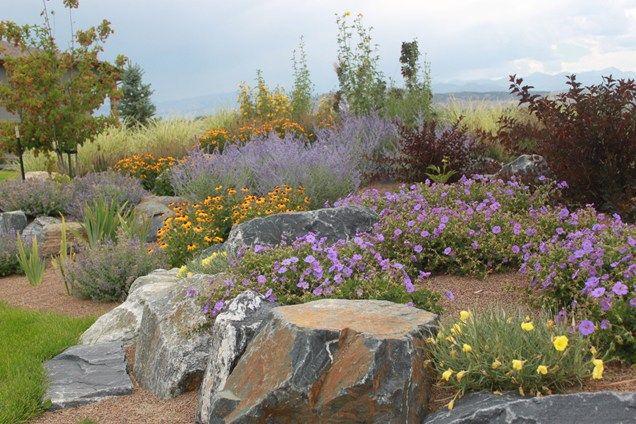 Xeriscape Boulders  Boulder  J Landscape  Longmont, CO