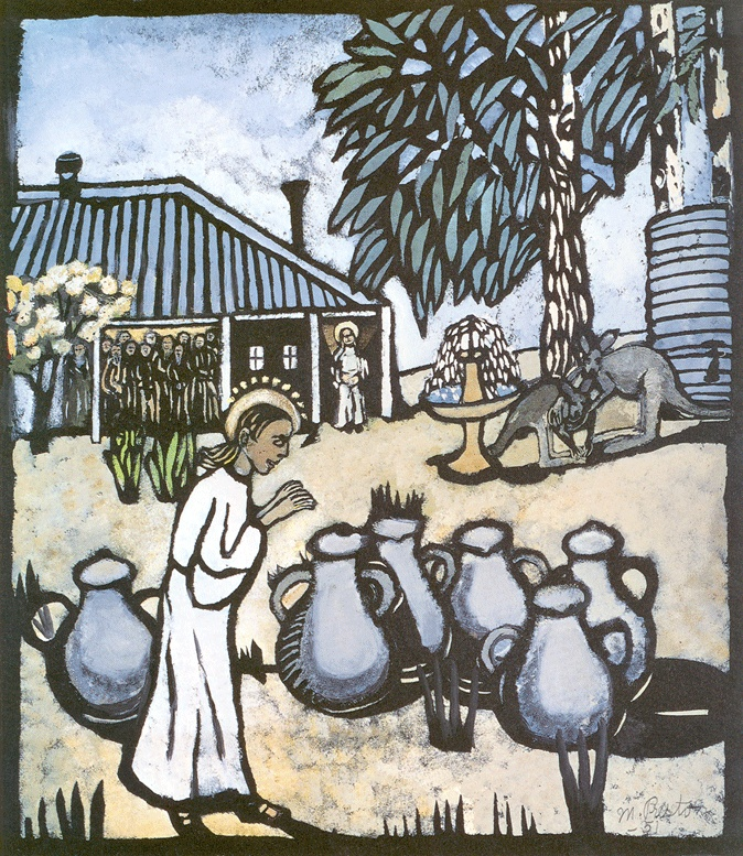Christ Turning the Water into Wine, Margaret Preston