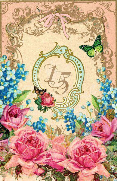 Vintage quinceanera invitations