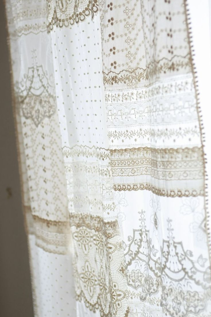 Inspiration file 08初夏に作ってみたい レースのパッチワークカーテン | コッカファブリック・ドットコム|布から始まる楽しい暮らし|kokka-fabric.com
