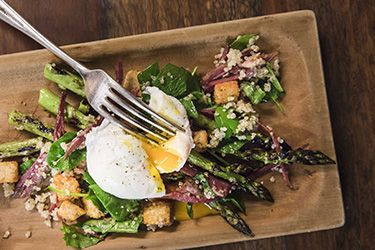 Asparagus and pastrami salad