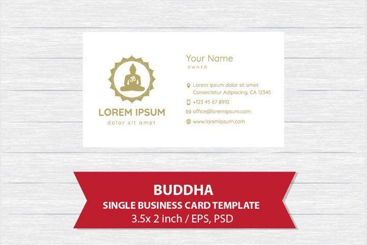 Buddha Single Business Card Template 894433 Business Cards Design Bundles In 2021 Business Card Template Design Simple Business Cards Business Card Template