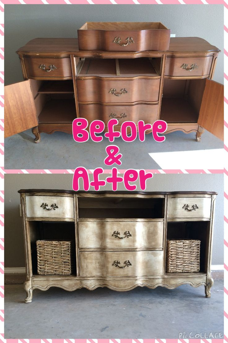 Before & After with Annie Sloan chalk paint and wax