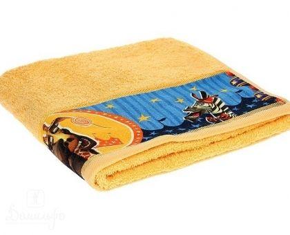 Купить полотенце детское с бордюром МАДАГАСКАР Мелман желтое 60х130 от производителя Непоседа (Россия)
