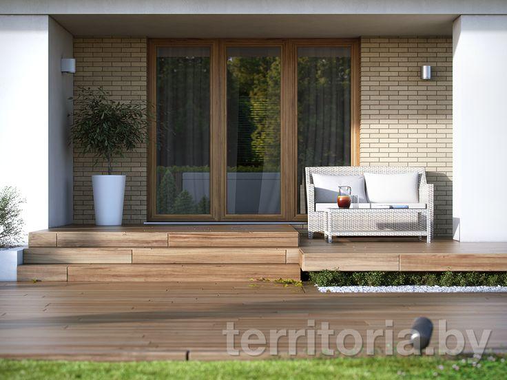Проект одноэтажного дома с гаражом KIWI 2 купить в Минске на Territoria.by