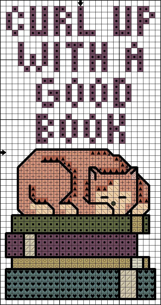 Killer Crafts & Crafty Killers--Cross Stitched Cat Bookmark