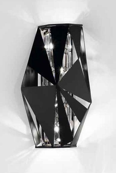 IDL Crystal Rock 4 Lamp Wall Light