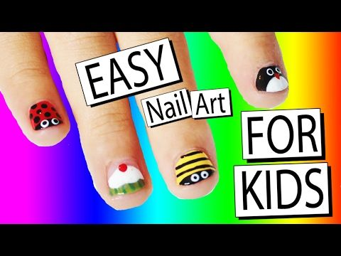 27 best nail art for kids images on pinterest halloween nail art 5 easy nail art designs for children nailed it nz youtube prinsesfo Images