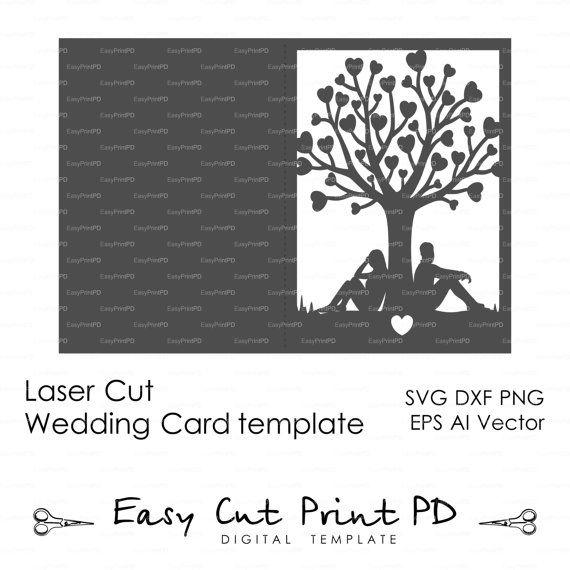 Historia de la novia y el novio árbol par los por EasyCutPrintPD