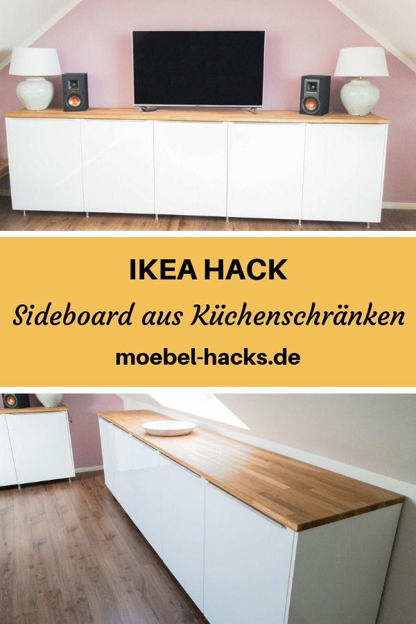 Sideboard aus Metod Küchenschränken - IKEA HACK ...