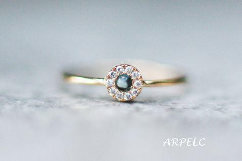 Bague or topaze bleu ciel avec des diamants, bague de fiançailles de topaze, bijoux de mariage, bague de fiançailles de la Saint-Valentin