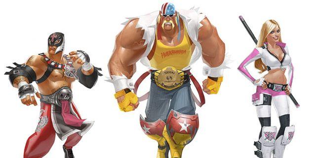 WWEのレスラーたちが戦うアクションゲームのコンセプトアート&動画