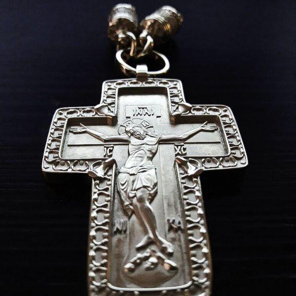 Крест «Георгий Воин» с гайтаном, серебро | Кустодия-творческая мастерская. Ювелирные украшения ручной работы. Кресты православные золотые и серебряные.