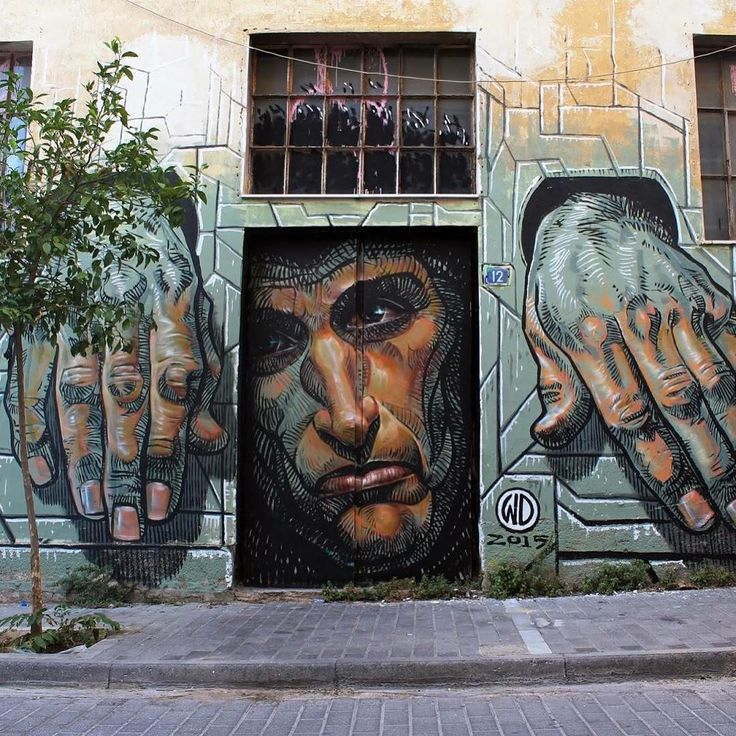 """""Hope Dies Last"", Artist: WD street art  Location: Athens, Greece @wd_wilddrawing"""