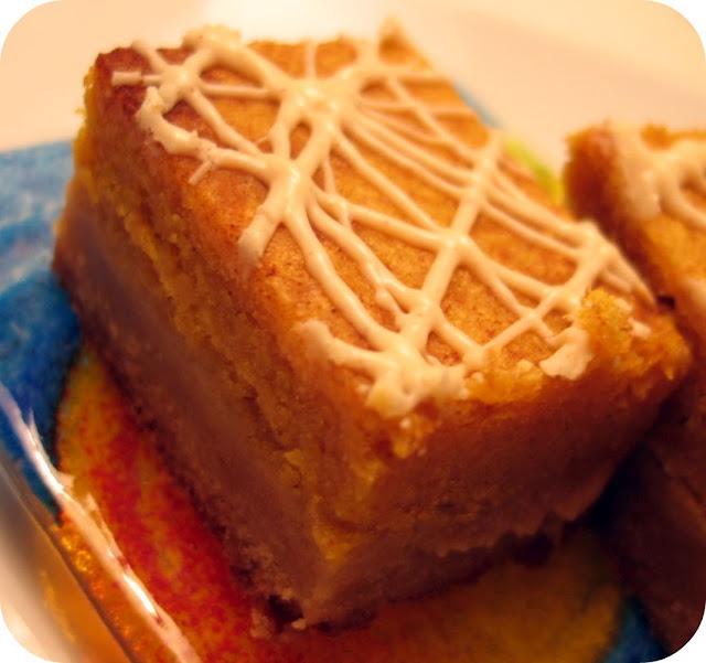 susis kürbiskuchen snickerdoodle bars: picknick im herbst potluck dessert!