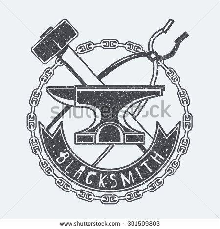 Blacksmith - stock vector