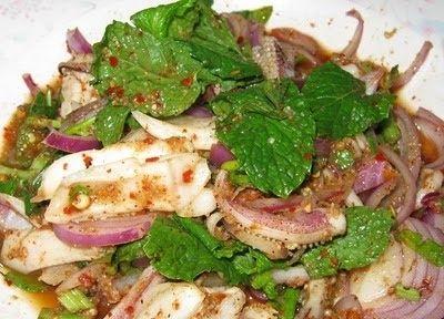 asiadeli Enjoy this delicious dish of springy squid salad. This Thai squid salad is fresh,hot,sour and salty. This Thai squid salad recipe...