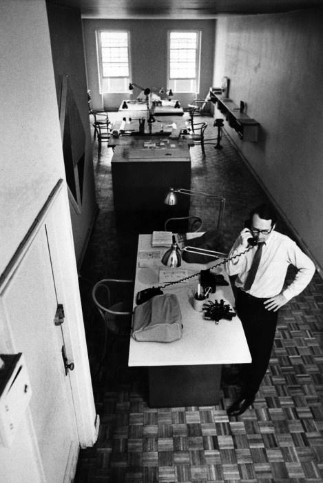 Richard Meier is a fan of B9 chairs, we understand.