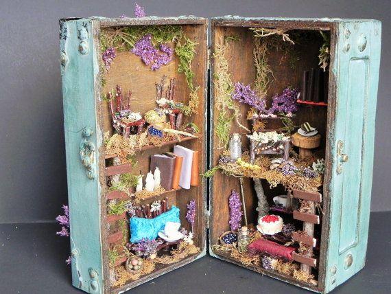 Box fairy house. Charming gift, fairy garden, fairy dollhouse, fairy furniture…