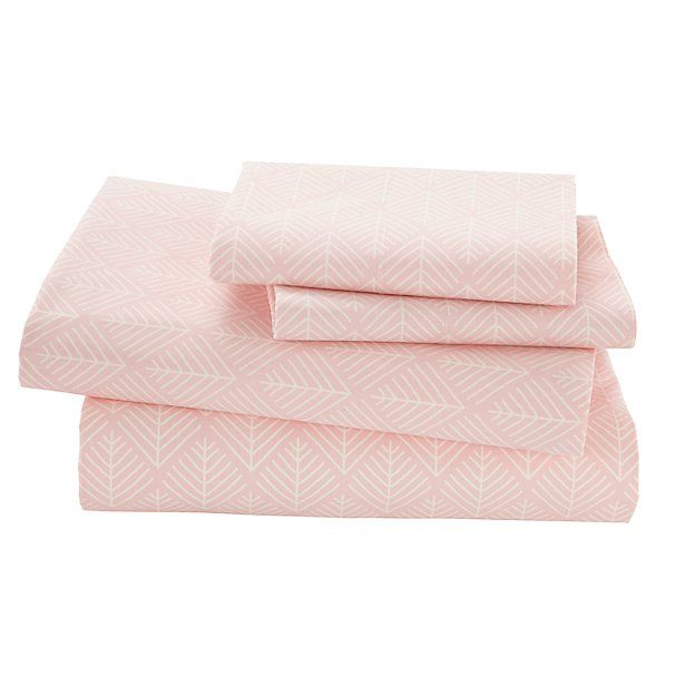 Organic Well Nested Pink Queen Sheet Set | The Land of Nod