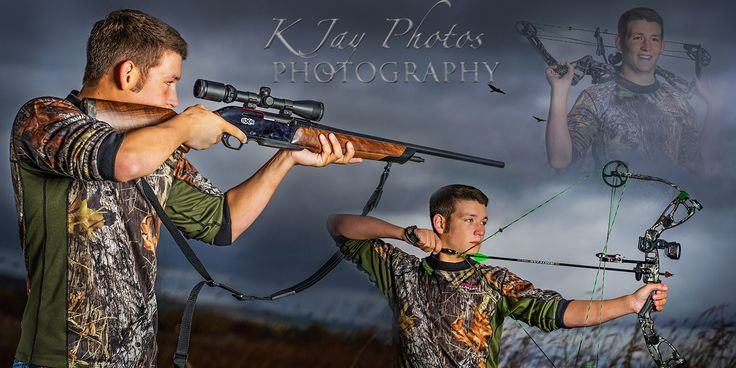 Senior Pictures by K Jay Photos Photography, Madison WI.  He loves to hunt.  Hunter senior pictures that rock.  www.kjayportraits.com for more examples.