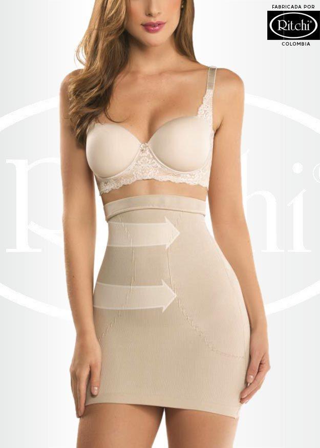 Faja reductora levanta cola tipo falda vestidos para for Prendas interiores femeninas