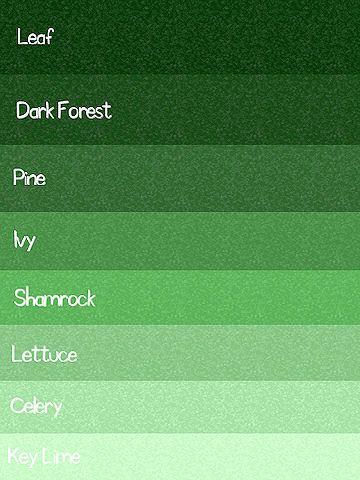green color chart color palette paint inspiration paint colors