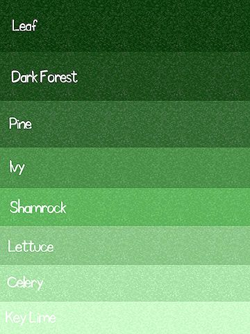 Green Color Chart Palette Paint Inspiration Colors Random Shades Of