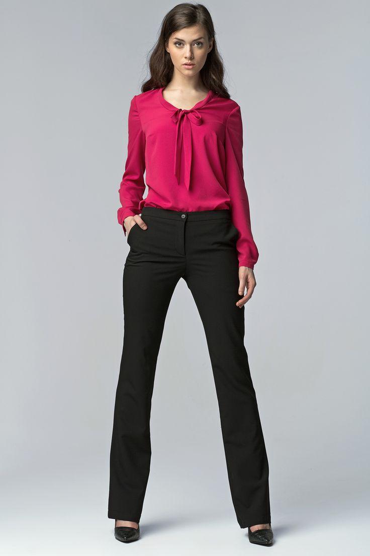 Nife SD20 Spodnie bootcut - czarny