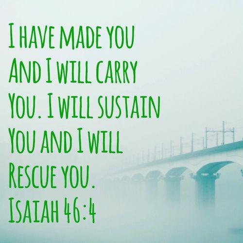 Sacred Sunday | I will carry you