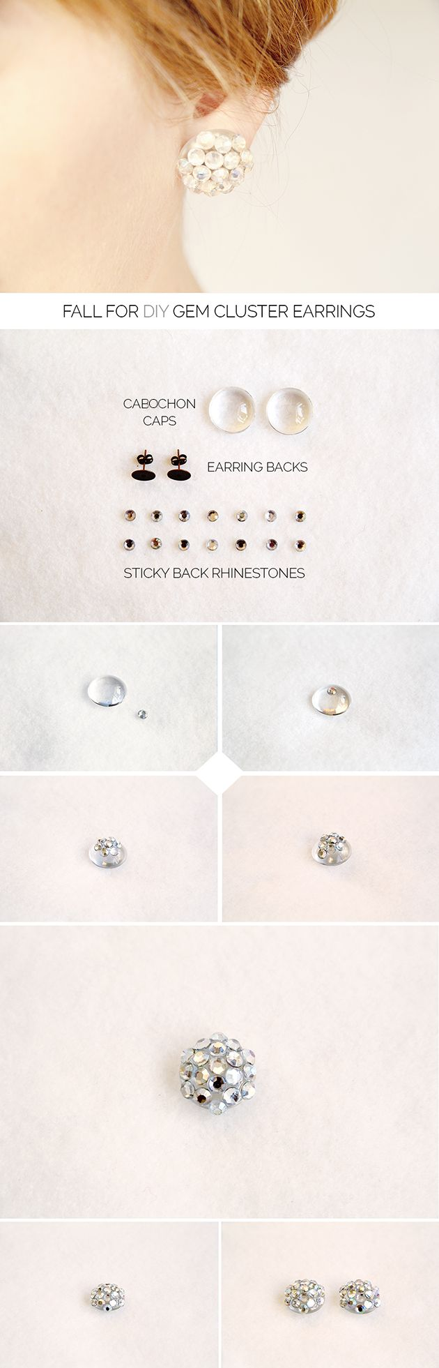 Beautiful gem cluster earrings will definitely have to give these a try