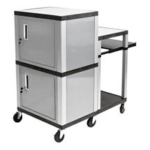 Beautiful Multimedia Cart with Locking Cabinet