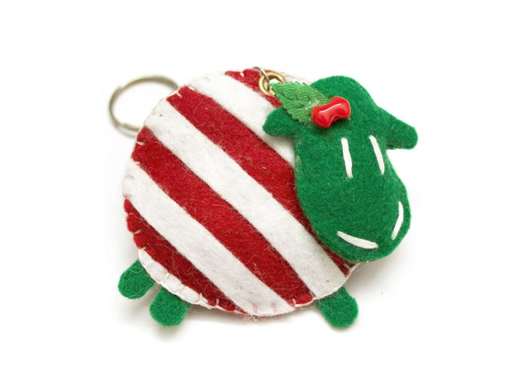 Christmas striped sheep DaWanda.com