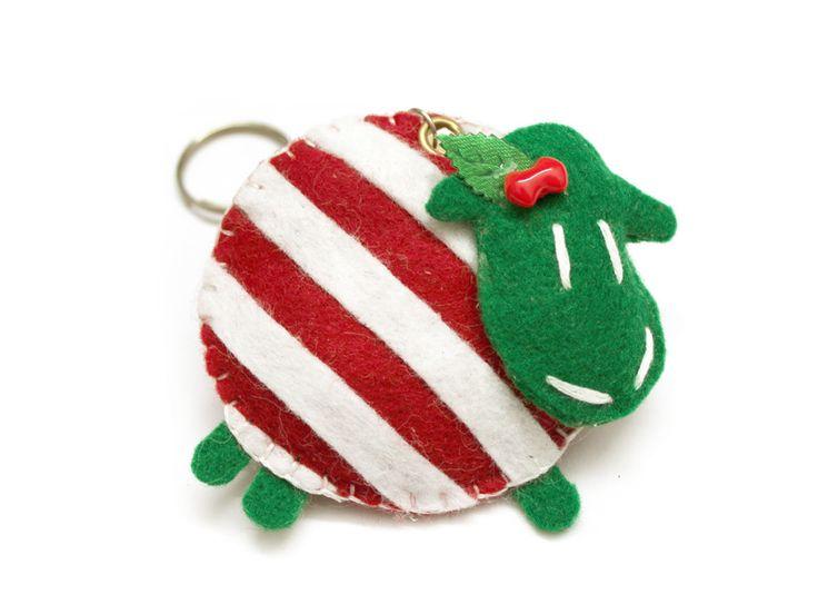Christmas striped sheep DaWanda.com