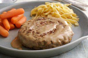 Bifteck Salisbury avec sauce